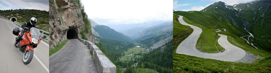 Circuit Pyrenees Alpes moto