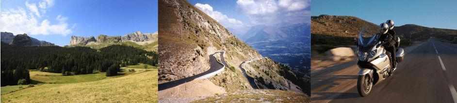 Voyage moto Alpes