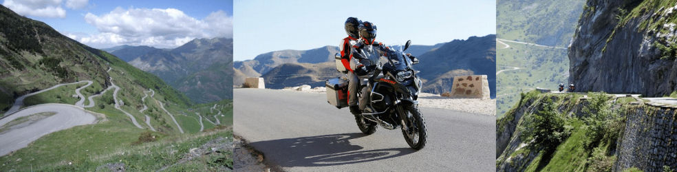Voyage moto guidée Pyrenees Alpes